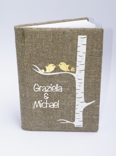 Other Guest Book Burlap Linen Guest Book Ceremony Decoration