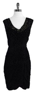 Plenty by Tracy Reese short dress Black Velvet Leopard Print on Tradesy