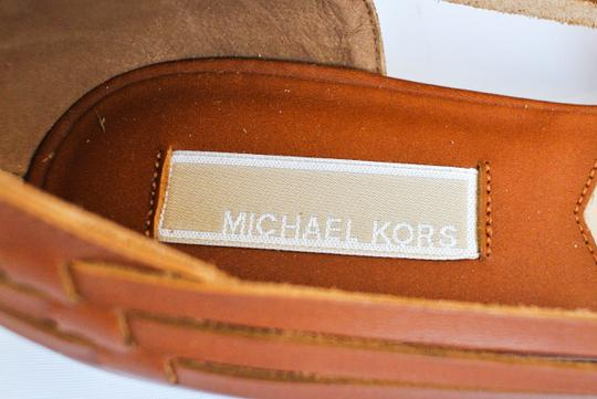 Michael Kors Leather Woven Brown Sandals Image 2