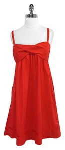 Diane von Furstenberg short dress Red Cotton Blend Spaghetti on Tradesy