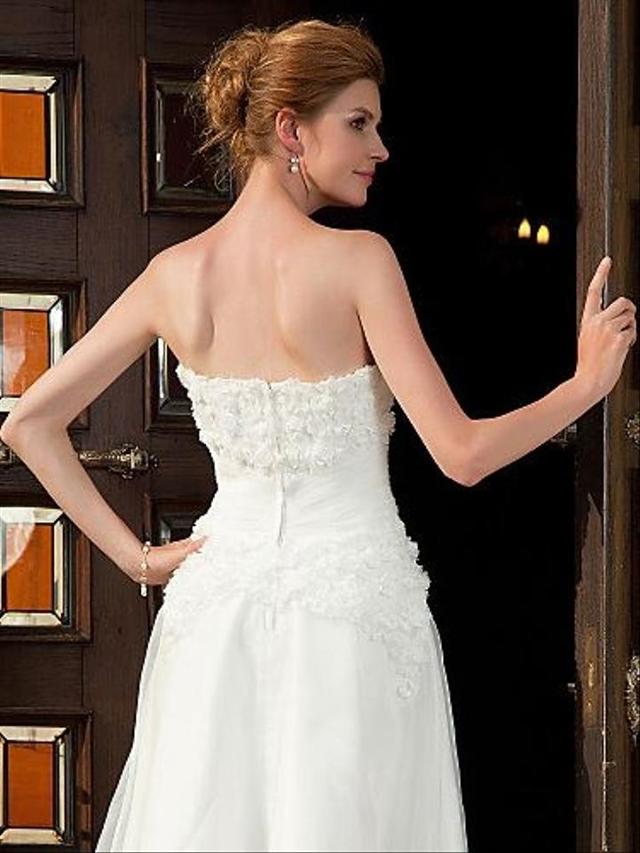Other A Line Sweetheart Knee Length Organza Wedding Dress