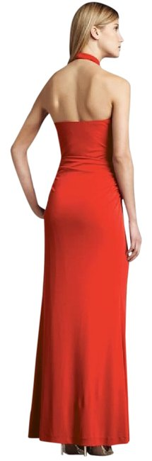 Nicole Miller Coral Halter Gown Dress