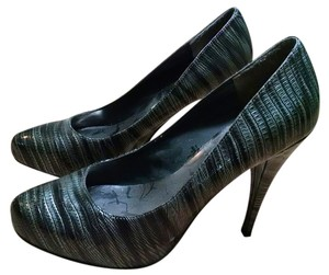 Steve Madden Heels Stiletto Size 8 Black Gray 5 In Heel Closed Toe Baby Doll P1641 Gray, Black Pumps