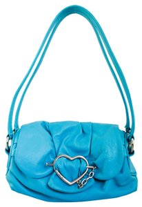 Moschino Leather Bright Heart Shoulder Bag