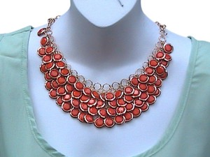 Other Fashion Gold Tone Resin Gem Bib Necklace