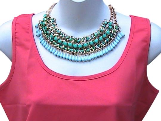 Preload https://item2.tradesy.com/images/gold-tone-faux-turquoise-fashion-elegant-bib-necklace-5384296-0-0.jpg?width=440&height=440
