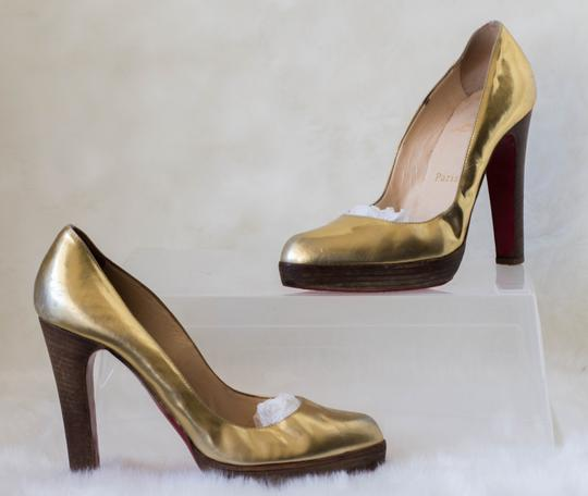 Christian Louboutin Gold Platforms