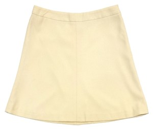 Giorgio Armani Cream Wool Mini Mini Skirt