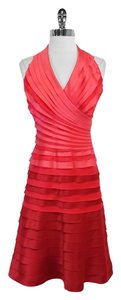Tadashi Shoji short dress Pink Ombre Tiered Halter on Tradesy