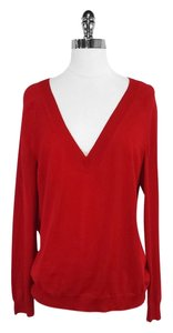 St. John Red Wool Blend Sweater