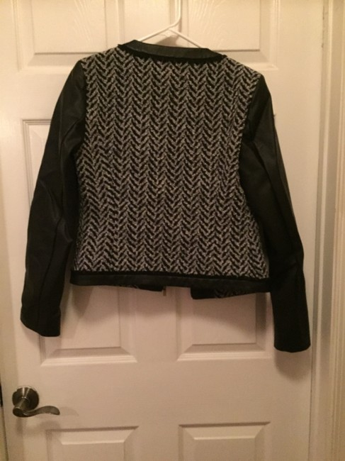 Mossimo Supply Co. black and grey Leather Jacket