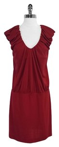 Nicole Miller short dress Red Cap Sleeve on Tradesy