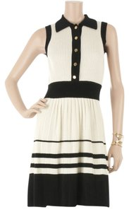 MILLY Cashmere Sweater Preppy Nautical Gold Buttons Dress