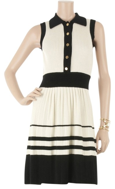 Preload https://item1.tradesy.com/images/milly-black-white-cashmere-sweater-nautical-striped-color-military-sailor-gold-mid-length-workoffice-538580-0-0.jpg?width=400&height=650
