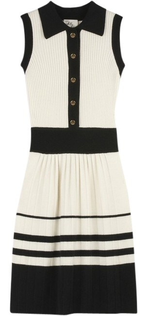 Preload https://item1.tradesy.com/images/milly-black-white-ivory-gold-cashmere-sweater-nautical-striped-color-military-sailor-mid-length-work-538580-0-2.jpg?width=400&height=650