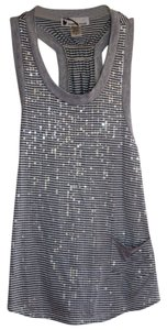 Immaginary Voyage Top Gray/White/Sequins