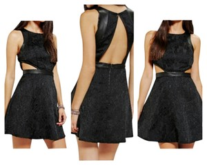 Silence + Noise Vegan Leather Party Dress