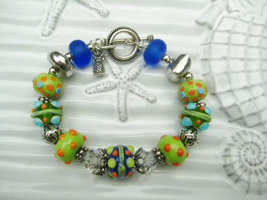 Other Handmade Tropical Lampwork Bead Bracelet