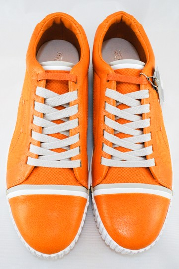 Alexander McQueen Collaboration Coated Canvas Leather Orange Athletic