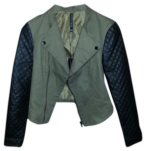 W118 by Walter Baker Leather Faux Leather Military Moto Trendy Motorcycle Jacket