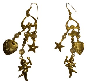 Chandelier cherub earrings
