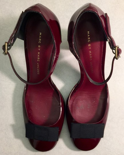 Marc by Marc Jacobs Patent Leather Party Oxblood Burgundy Raspberry Pumps