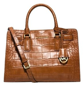 Michael Kors Satchel in Walnut/Gold