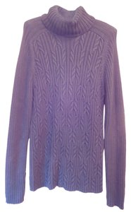 Karen Scott Cotton Cable Knit Turtleneck Sweater