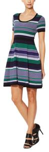 Shoshanna short dress Blue multi Fit And Flare on Tradesy