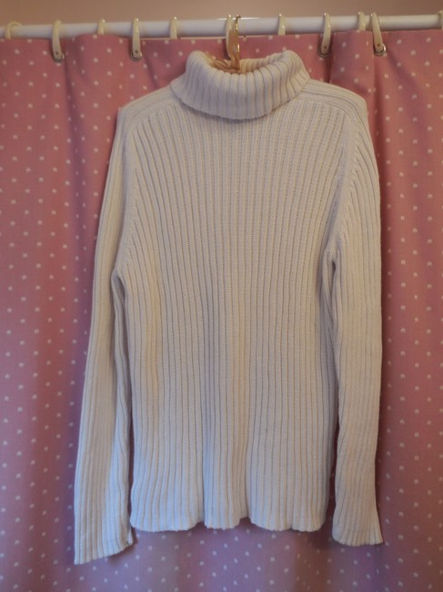 Karen Scott Cotton Cable Knit Turtleneck Long Sleeves Sweater