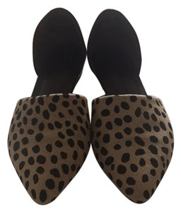 Jenni Kayne Black/Cheetah Calf Hair Flats