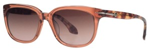 Calvin Klein Calvin Klein Clear Burnt Orange Wayfarer Sunglasses