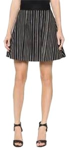 Alice + Olivia Flare Skirt black stripe