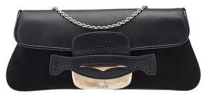 Tod's Suede Leather Chain Baguette