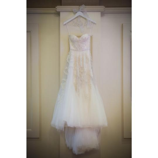 Reem Acra Ivory Tulle and Lace Heavenly Formal Wedding Dress Size 0 (XS)
