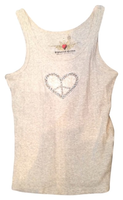 Twisted Heart T Shirt grey