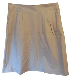 c608e80cc2d Lands  End Cotton Lined New With Tags Lightweight Fabric Slash Pockets Skirt  Light Tan