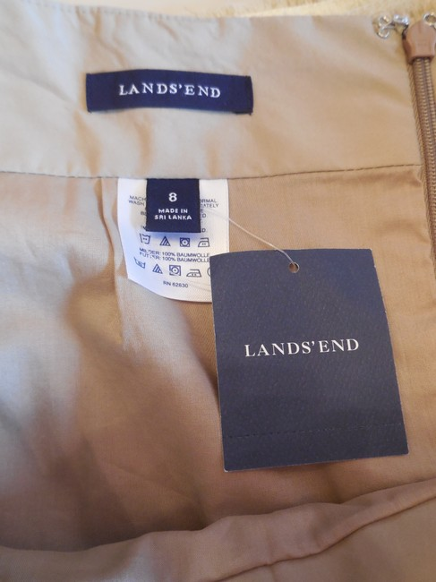 Lands' End Lined New With Tags Skirt Khaki