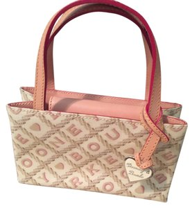 Dooney & Bourke Leather Multi-colored Satchel in Cream