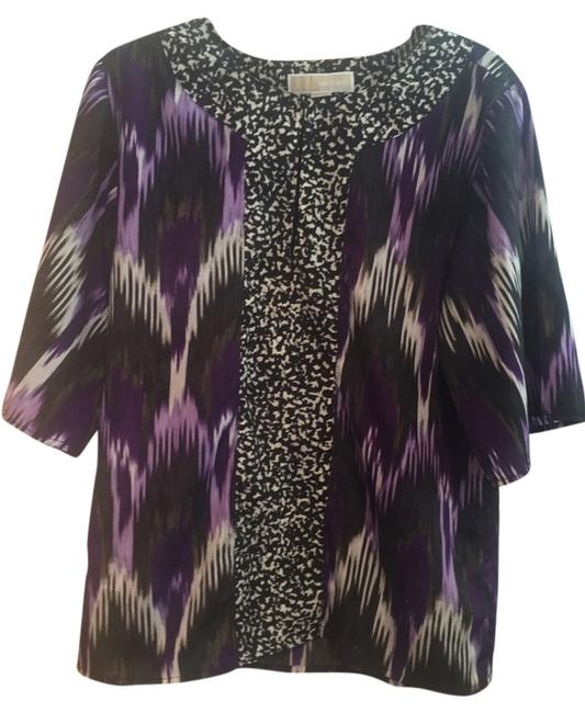 Item - Purple/Black/White Tunic Size 6 (S)