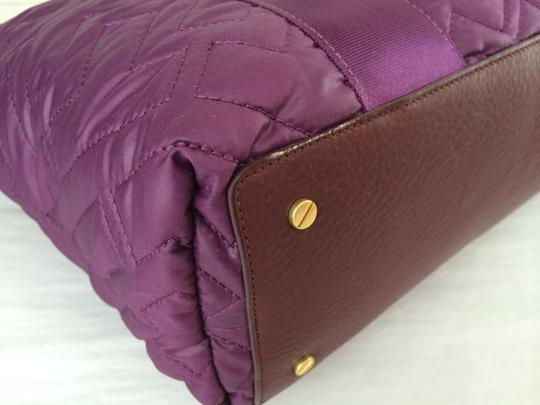 Tory Burch Ski Jaden Quilted Nylon Handbag Tote in Purple