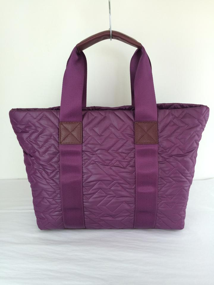 Very Tory Burch Ski Vintage Jaden In Quilted Purple Nylon Tote - Tradesy HZ95
