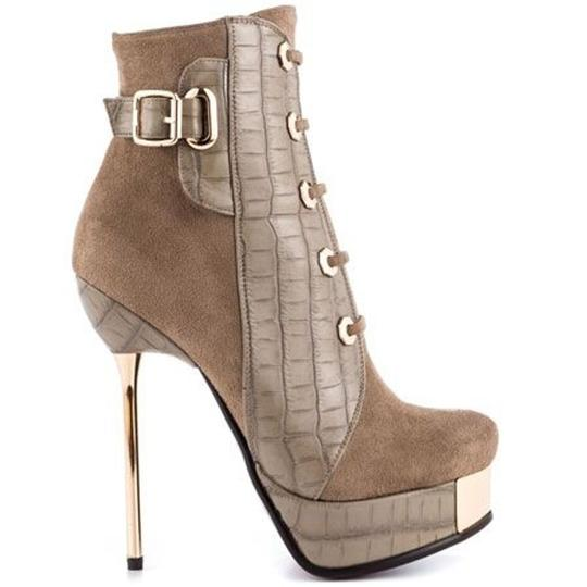 Luichiny Ankle Stiletto taupe Boots