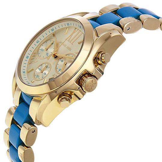 Michael Kors Chambray and Gold Tone Casual Sport Ladies Watch