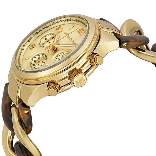 Michael Kors Chain Bracelet Gold and Tortoise Shell Fashion ladies Watch