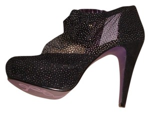 Poetic License BLACK SUEDE WITH SILVER AND GOLD SPRINKLES Platforms