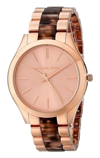 Preload https://item1.tradesy.com/images/michael-kors-tortoise-shell-and-rose-gold-designer-dress-ladies-watch-5389975-0-0.jpg?width=440&height=440