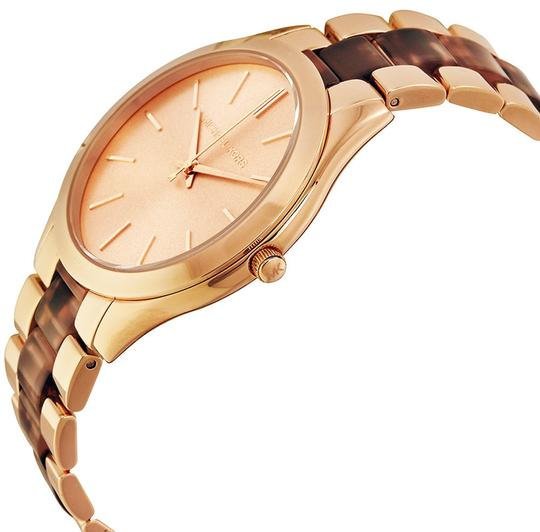 Michael Kors Tortoise Shell and Rose Gold Designer Dress Ladies watch
