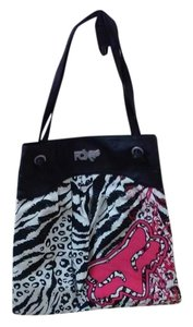 Fox Tote in Pink, black,white