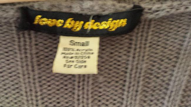 Love by Design Brass Autumn Cable Knit Sweater Cardigan